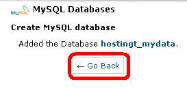 database telah ditambahkan