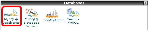 menu mysql databases