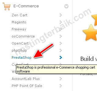 e-commerce select prestashop