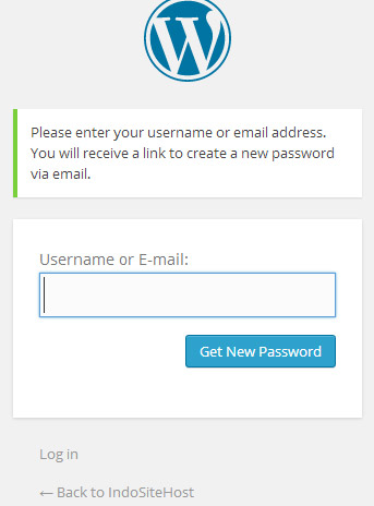Get password wordpress admin